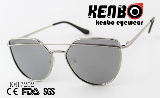 Sunglasses with a Metal Bar Through The Frame Km17202