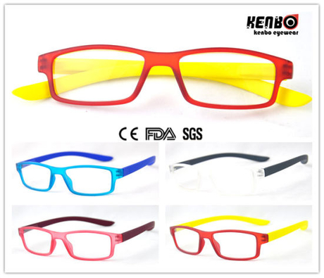 Soft Rubber Painting Reading Glasses with Spring Hinge Kr5094