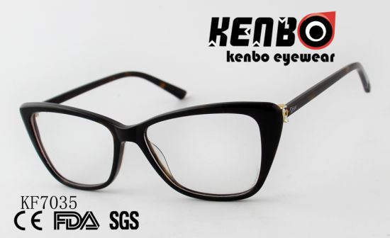 High Quality PC Optical Glasses with Mixed Frame Ce FDA Kf7035