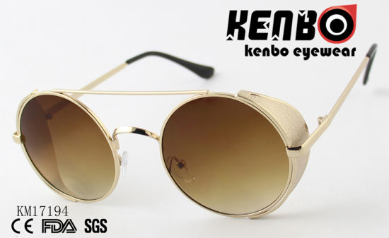 Sunglasses with Top Bar and Metal Piece Km17194