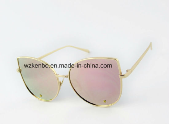 Cateye Shape Frame with Fully Metal Fashion Sunglasses Km16148