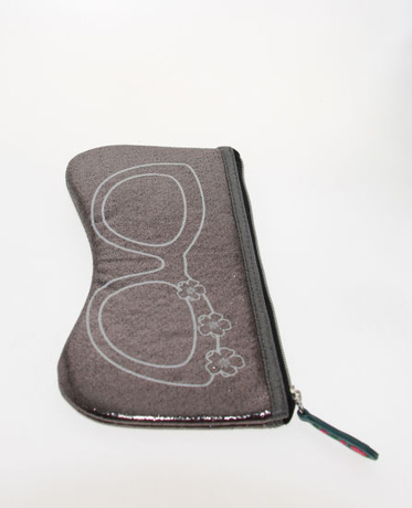 Cute Glasses Pouch with Glasses Pattern on and Zipper